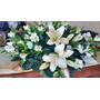Arreglo Floral Centro De Mesa Con Caida Lilium Y Astromeria