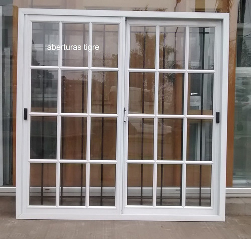 Ventana de aluminio blanco 1 50 x 1 50 mts vidrio for Aberturas de aluminio blanco precios rosario