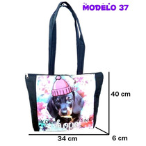 10 Carteras X Mayor Bolso Sublimados Perritos Tela Bondeada