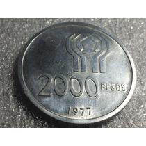 Moneda Argentina $2000 Mundial 78 Cuño 1977
