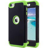 Funda Para Apple iPod Touch 5/6/7 Generacion (negra Y Verde)