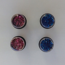 Aros Expansores Glitter 8 Mm