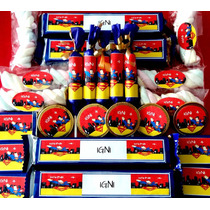 Candy Bar Superman - Superhéroes !! 10 Chicos/60 Golosinas