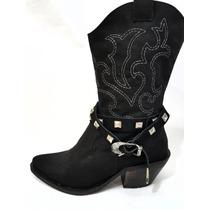 Botas De Dama Tipo Texana