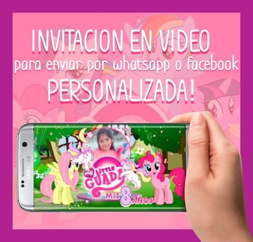 cfcc856409e17 Invitaciones De Cumpleaños Online - My Little Pony.   220