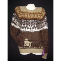 Sweater Lana Alpaca Llama Pullover Unisex Artesanal Belgrano