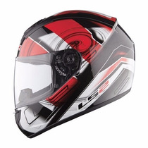 Casco Ls2 Ff352 Action White Red Rojo Obvio En Fas Motos