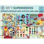 1 Kit Imprimible X 6 Sets Superheroes P/cotillòn Cumpleaños