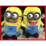 Muñecos De Peluche Minions Gigantes 60 Cm Ojos Rígidos