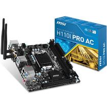 Mother 1151 Msi H110i Pro Ac Ddr4 Wifi Bluetooth Mini Itx