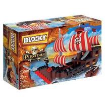 Blocky Piratas Con 560 Piezas Y 4 Muñecos Articulados