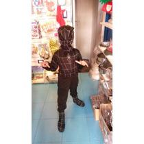 Disfraz Venom Hombre Araña Negro Talle 5 A 7 Años Spiderman