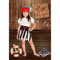 Disfraz De Pirata Nena Varios Talles Candela