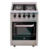 Cocina Industrial Morelli Country Forza 600 4 Hornallas  A Gas/eléctrica Plateada 220v Puerta Visor