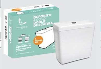 Depósito A Codo Porcelana Sanitaria Descarga Doble Pringles