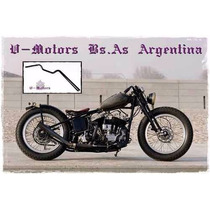 Manubrio Old Style Moto Chopper Bobber Ingles Harley Cafe