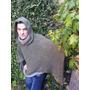 Sweater Sueter Poncho Con Capucha Tejido Hombre Hasta Xxxl