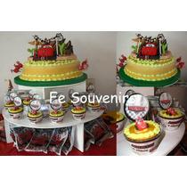 Cupcakes-torta-golosinas-topiario-candy Bar Cars- Rayo-dusty
