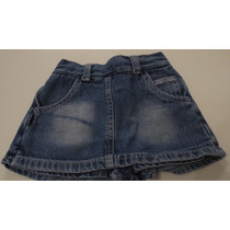 Pollera Chic Chat Jeans C/short Talle 2