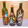 Botella / Botellas Decoradas Fileteadas ** Deco - Ofertas **