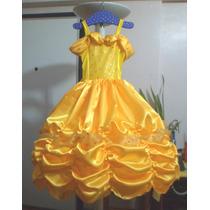 Vestido Disfraz Bella + Corona De Regalo