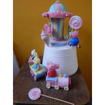 Pepa Pig Y Sus Amigos En Porcelana Fria Para Tu Torta