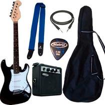 Combo Guitarra Electrica Niño 3/4 Stratocaster Ampli 5w Acce