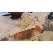 Zapatos De Cuero Blancos Atencion Novias!