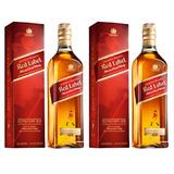 Whisky Johnny Walker Red Litro 2 Botellas Envio Gratis Caba