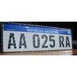 Chapa Patente Para Auto Mercosur Aluminio Replica