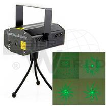 Mini Láser Audiorítmico Verde Y Rojo 4 Figuras (4g),dj Luces