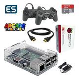 Consola Juegos Retro Raspberry Sd 32gb 2 Joystick Recalbox