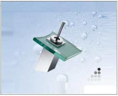 Griferia monocomando lavatorio cascada vidrio cuadrado for Griferia tipo cascada