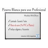 Pizarra Blanca 80x120cm+ 2 Marcadores Y Accesorios Gratis
