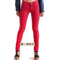 Pantalon Jean Gabardina Elastizado Colores Varios