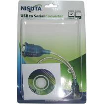 Cable Adaptador Usb A Serie Rs232 Puerto Macho Db9 | Nisuta