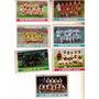 Lote 7 Figuritas Tarjeton Fulvito Año 1974 Equipos De Futbol