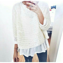 Sweater Mohair Tejido Artesanalmente