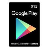 Tarjeta Google Play 15 U$ Usa | Entrega Inmediata- Gamer24hs