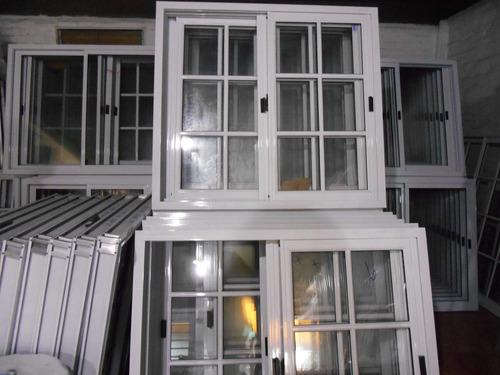 Ventana aluminio blanco 120x110 vidrio 3mm reja 1650 for Cotizacion aluminio argentina