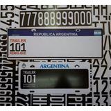 Patente Para Trailer 101 Argentina Con Y Sin Mercosur