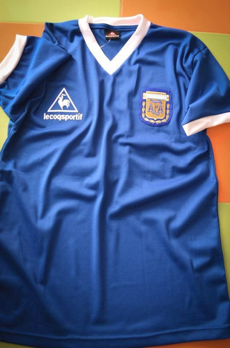 Camiseta Argentina Retro 1986 Suplente Maradona 86 1863d41a80881