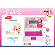 Computadora Barbie Charm Notebook 92 Actividades Bilingue