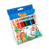Crayones Plastipinturitas Jovi Largos X 12 Colores No Toxico