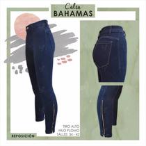Pantalon Jean C/ Cierre Sisa Denim Chupin Elastizado Bahamas
