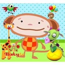 Kit Imprimible Baby Tv - Tarjetas Cumples Con Foto Tarjeta