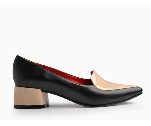 9081fa849 Zapatos De Mujer De Cuero Y Charol Bajo Roma - Ferraro - en venta en ...