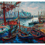 Cuadro De Quinquela Martín Impreso En Canvas 85x79
