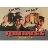 Carteles Antiguos Chapa Grues 20x30cm Cerveza Quilmes Dr-121