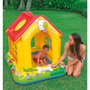 Pileta Inflable Con Techo Tipo Pelotero Intex Casita